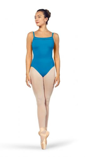 Bloch Ladies Dance Scoop Neckline Camisole Leotard Ladder Trim L4957 MaldiveBlue